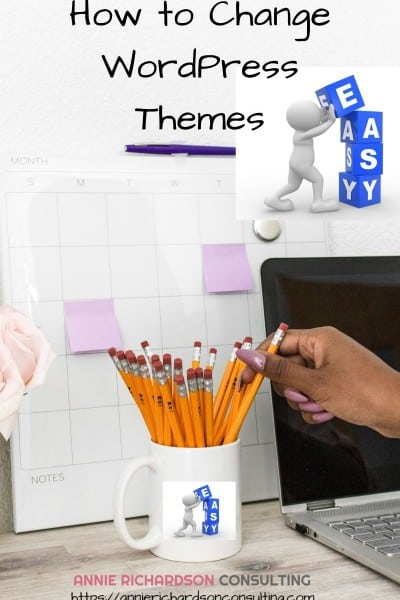 coffee cup withpencils, Easy, change wordpress themes