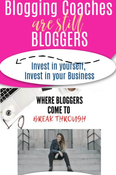 pink background, blogging coaches are still bloggers