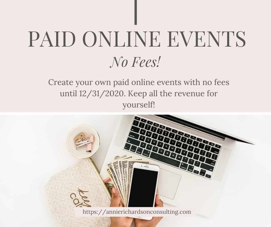 Paid Online Events + Free from Facebook Business 1