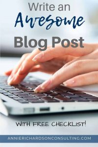 write an awesome blog post
