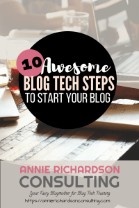 computer, 10 steps, start your blog
