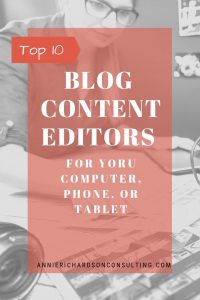 Top 10 Blog Content Editors