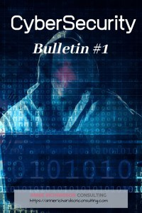 dark background, creepy dude with zeros and ones all around. Cyber Security Bulletin #1