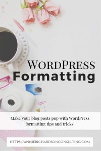 format wordpress